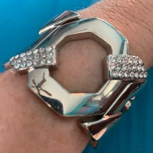 Rhinestone and Silver Bracelet